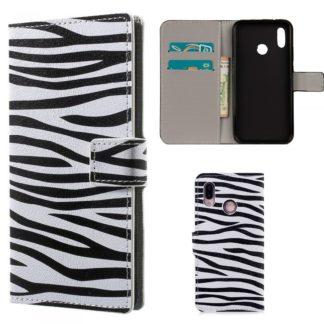 plånboksfodral till huawei p20 lite ränder zebra