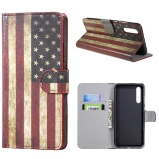 plånboksfodral till huawei p20 pro, usa amerikanska flaggan