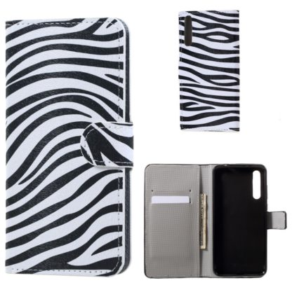 plånboksfodral till huawei p20 pro, randig zebra