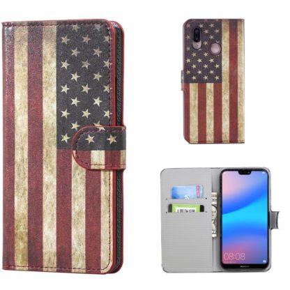 plånboksfodral till huawei p20 lite usa amerikansk flagga