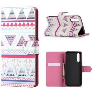 plånboksfodral till huawei p20 pro, aztek mönster