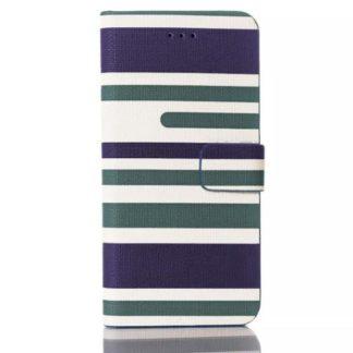 Plånboksfodral Apple Iphone 6 / 6S Plus - Linjer Grön & Blå