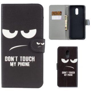 plånbok fodral oneplus 6T dont touch my phone med kortplatser och sedelficka