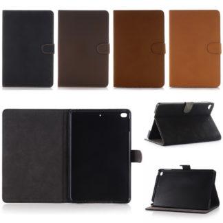 vackert stilrent fodral till ipad mini 5. Retro stil i fyra olika färger, svart, brun, mörkbrun och beige