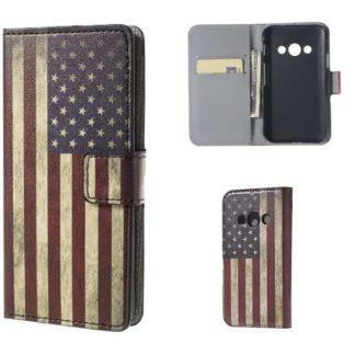 Plånboksfodral Samsung Xcover 3 (SM-G388F) - Flagga USA