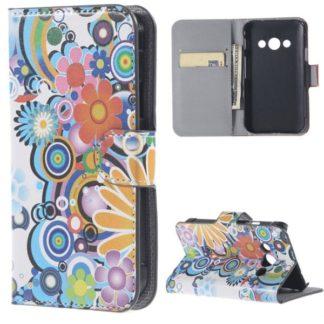 Plånboksfodral Samsung Xcover 3 (SM-G388F) - Blommor & Cirklar