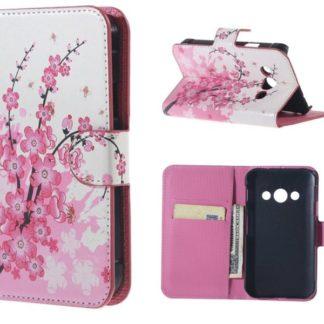 Plånboksfodral Samsung Xcover 3 (SM-G388F) - Körsbärsblommor