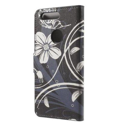 Plånboksfodral Huawei Honor 8 – Svart med Blommor