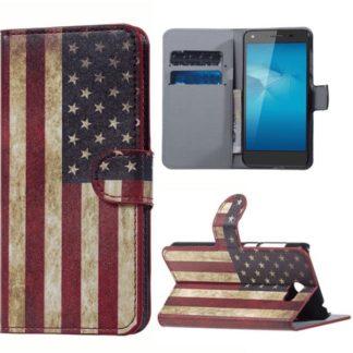Plånboksfodral Huawei Y6 II Compact - Flagga USA