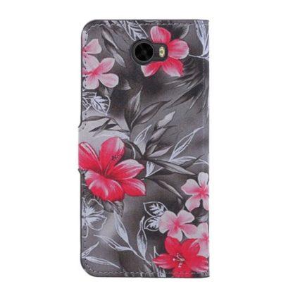 Plånboksfodral Huawei Y6 II Compact – Svartvit med Blommor