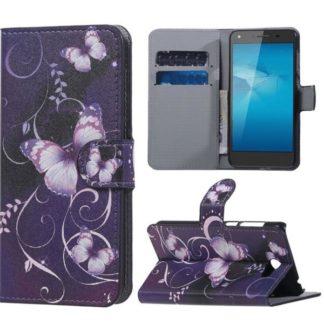 Plånboksfodral Huawei Y6 II Compact – Lila med Fjärilar