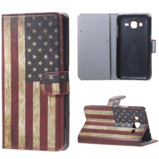 Plånboksfodral Samsung Galaxy J3 (2016) - Flagga USA