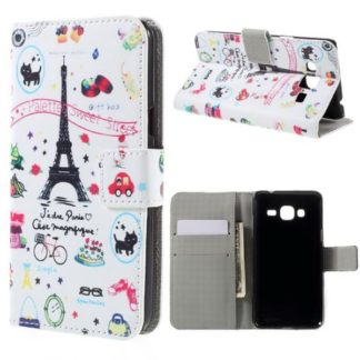 Plånboksfodral Samsung Galaxy J3 (2016) - Paris / Eiffeltornet