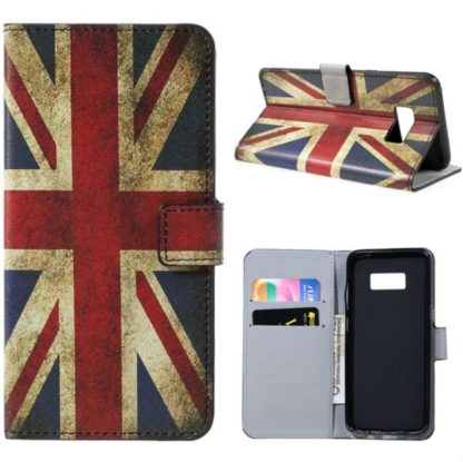 Plånboksfodral Samsung Galaxy S8 Plus - Flagga UK