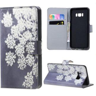 Plånboksfodral Samsung Galaxy S8 Plus – Små Blommor