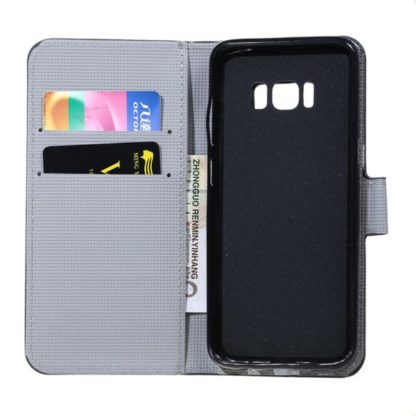 Plånboksfodral Samsung Galaxy S8 Plus – Prickigt med Uggla
