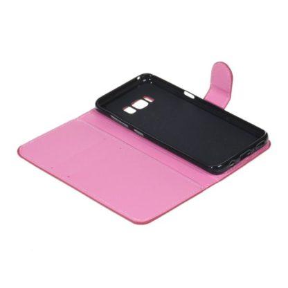 Plånboksfodral Samsung Galaxy S8 Plus - Vit med Fjärilar
