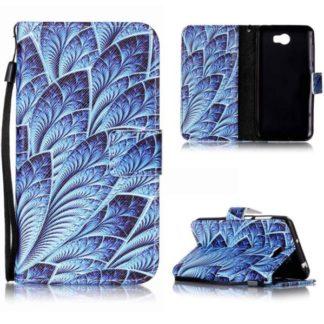 Plånboksfodral Huawei Y6 II Compact – Blå Blomma