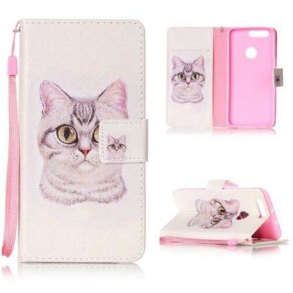 Plånboksfodral Huawei Honor 8 – Katt