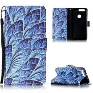 Plånboksfodral Huawei Honor 8 – Blå Blomma