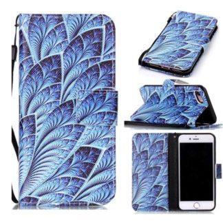 Plånboksfodral Apple Iphone 7 – Blå Blomma