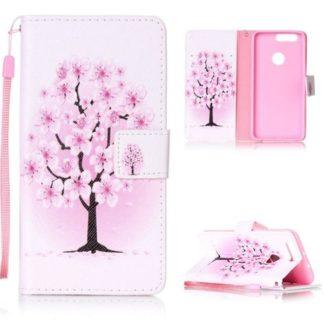 Plånboksfodral Huawei Honor 8 – Rosa Träd