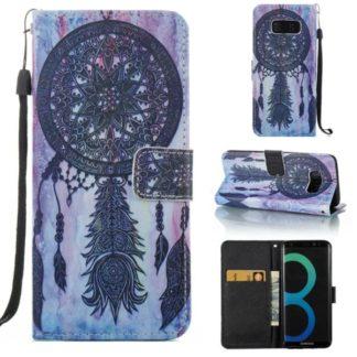 Plånboksfodral Samsung Galaxy S8 – Drömfångare Lila