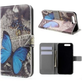 Plånboksfodral Huawei Honor 9 – Blå Fjäril