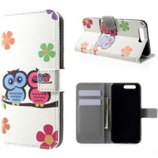 Plånboksfodral Huawei Honor 9 – Ugglor & Blommor