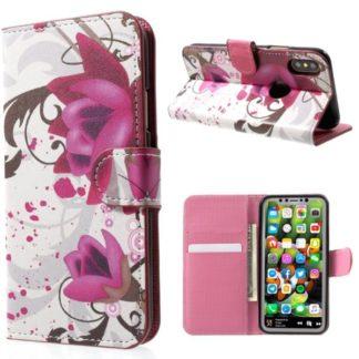 Plånboksfodral iPhone X / iPhone Xs - Lotus