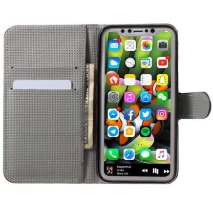 Plånboksfodral iPhone X / iPhone Xs - Lila med Fjärilar
