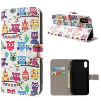 Plånboksfodral iPhone X / iPhone Xs - Ugglor På Kalas