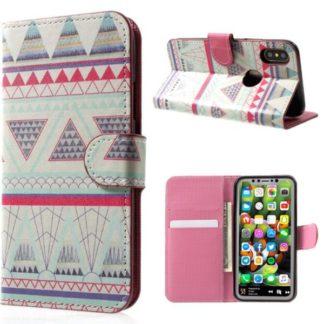 Plånboksfodral iPhone X / iPhone Xs - Aztek