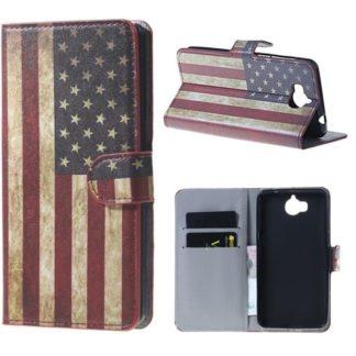 Plånboksfodral Huawei Y6 2017 - Flagga USA