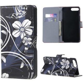 Plånboksfodral Apple iPhone 8 Plus – Svart med Blommor