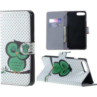 Plånboksfodral Apple iPhone 8 Plus – Prickigt med Uggla