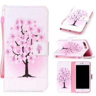 Plånboksfodral Apple iPhone 8 Plus – Rosa Träd