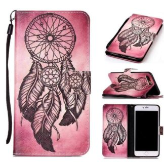 Plånboksfodral Apple iPhone 8 Plus – Drömfångare Rosa/Röd