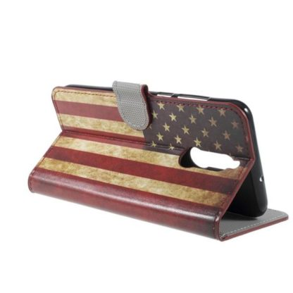 Plånboksfodral Huawei Mate 10 Lite - Flagga USA