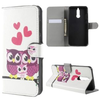 Plånboksfodral Huawei Mate 10 Lite – Ugglor & Hjärtan