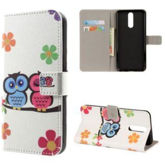 Plånboksfodral Huawei Mate 10 Lite – Ugglor & Blommor