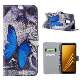 Plånboksfodral Samsung Galaxy A8 (2018) – Blå Fjäril