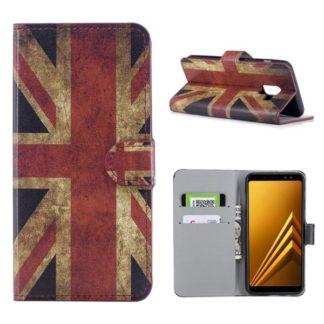Plånboksfodral Samsung Galaxy A8 (2018) - Flagga UK