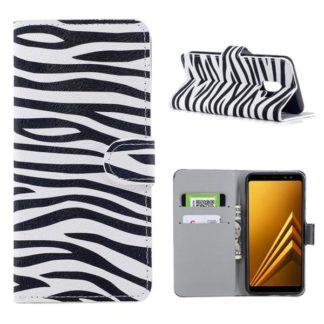 Plånboksfodral Samsung Galaxy A8 (2018) - Zebra