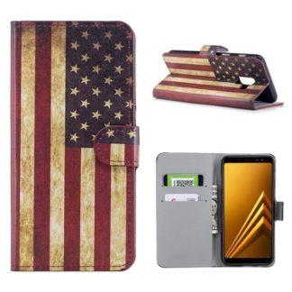 Plånboksfodral Samsung Galaxy A8 (2018) - Flagga USA
