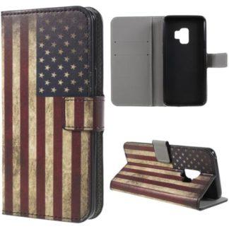 Plånboksfodral Samsung Galaxy S9 - Flagga USA