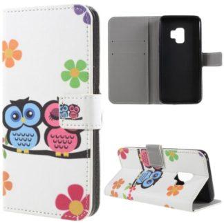 Plånboksfodral Samsung Galaxy S9 – Ugglor & Blommor