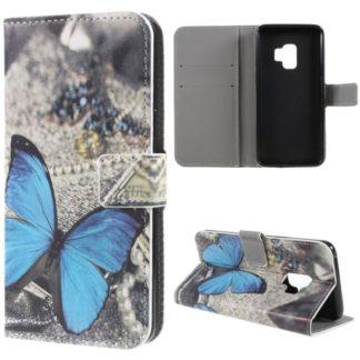 Plånboksfodral Samsung Galaxy S9 – Blå Fjäril