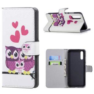 Plånboksfodral Huawei P20 – Ugglor & Hjärtan