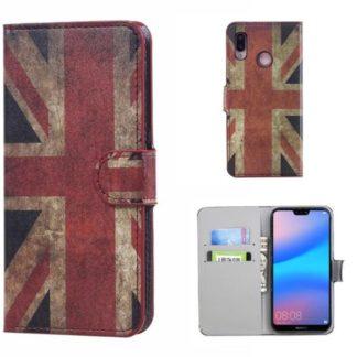 Plånboksfodral Huawei P20 Lite - Flagga UK